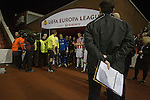 A television producer stands on guard as the players wait to make their way onto the pitch at the Britannia Stadium, Stoke-on-Trent, before the UEFA Europa League last 32 first leg between Stoke City and visitors Valencia. The match ended in a 1-0 victory from the visitors from Spain. Mehmet Topal scored the only goal in the first half in a match watched by a crowd of 24,185.