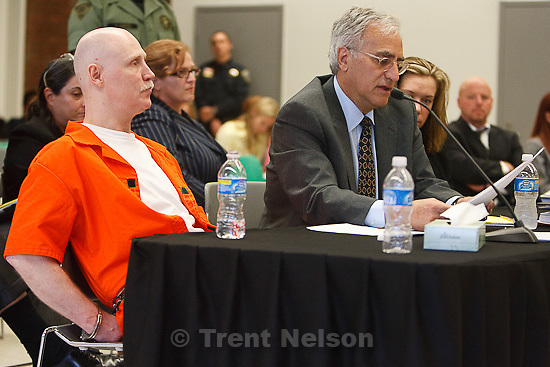Trent Nelson  |  The Salt Lake Tribune.Draper - Commutation hearing for death-row inmate Ronnie Lee Gardner Thursday, June 10, 2010, at the Utah State Prison. Andrew Parnes at right