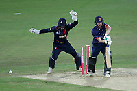 Adam Wheater of Essex is bowled out by Joe Denly during Kent Spitfires vs Essex Eagles, Vitality Blast T20 Cricket at the St Lawrence Ground on 2nd August 2018