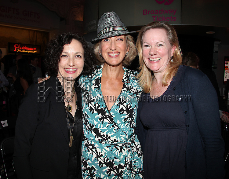Bebe Neuwirth, Paula Leggett Chase & Kathleen Marshall.attending the Broadway League and Coalition of Broadway Unions and Guilds Presentation of The 3rd Annual Broadway Salutes in New York City.