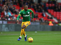 Preston North End's Darnell Fisher<br /> <br /> Photographer Stephen White/CameraSport<br /> <br /> The EFL Sky Bet Championship - Stoke City v Preston North End - Saturday 26th January 2019 - bet365 Stadium - Stoke-on-Trent<br /> <br /> World Copyright © 2019 CameraSport. All rights reserved. 43 Linden Ave. Countesthorpe. Leicester. England. LE8 5PG - Tel: +44 (0) 116 277 4147 - admin@camerasport.com - www.camerasport.com