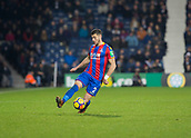 2nd December 2017, The Hawthorns, West Bromwich, England; EPL Premier League football, West Bromwich Albion versus Crystal Palace; Joel Ward of Crystal Palace stopping the ball from going out to the side line