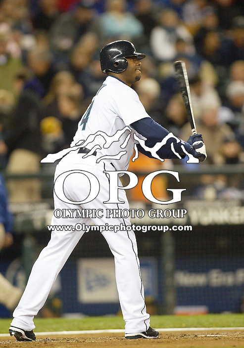 29 September 2009: Seattle Mariners designated hitter Ken Griffey Jr sets up in the batters box against the Oakland A's. Seattle won 6-4 over the Oakland A's at Safeco Field in Seattle, Washington.