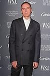 Fashion designer Raf Simons arrives at the WSJ. Magazine 2017 Innovator Awards at The Museum of Modern Art in New York City, on November 1, 2017.