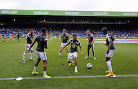 Pictured L-R: Angel Rangel, Raheem Hanley, Jay Fulton, Kenji Gorre, Matt Grimes and Modou Barrow<br />