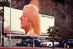 Rod Stewart billbooard on the Sunset Strip in Los Angeles