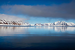 Norway, Svalbard, open fjord in late spring