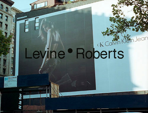 A billboard advertising Calvin Klein Jeans on the side of a building in Soho on September 16, 2003. Klein's advertisements have always used sex and have tested society's cultural and moral boundries. (© Richard B. Levine)