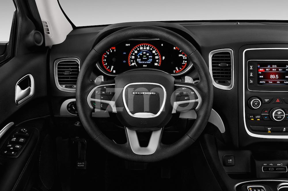 Car pictures of steering wheel view of a 2015 Dodge Durango SXT 5 Door Suv Steering Wheel