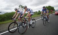 Frederik Willems (BEL) &amp; Lars Bak (DNK) relaxed<br /> <br /> 2013 Ster ZLM Tour <br /> stage 4: Verviers - La Gileppe (186km)