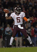 20 October 2005:  Virginia Tech QB Marcus Vick (5)..The Virginia Tech Hokies defeated the Maryland Terrapins 28-9 at Byrd Stadium in College Park, MD.