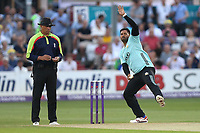Ravi Rampaul in bowling action for Surrey during Essex Eagles vs Surrey, NatWest T20 Blast Cricket at The Cloudfm County Ground on 7th July 2017