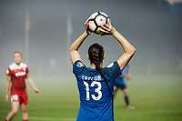 Kansas City, MO - Saturday May 27, 2017: Brittany Taylor during a regular season National Women's Soccer League (NWSL) match between FC Kansas City and the Washington Spirit at Children's Mercy Victory Field.