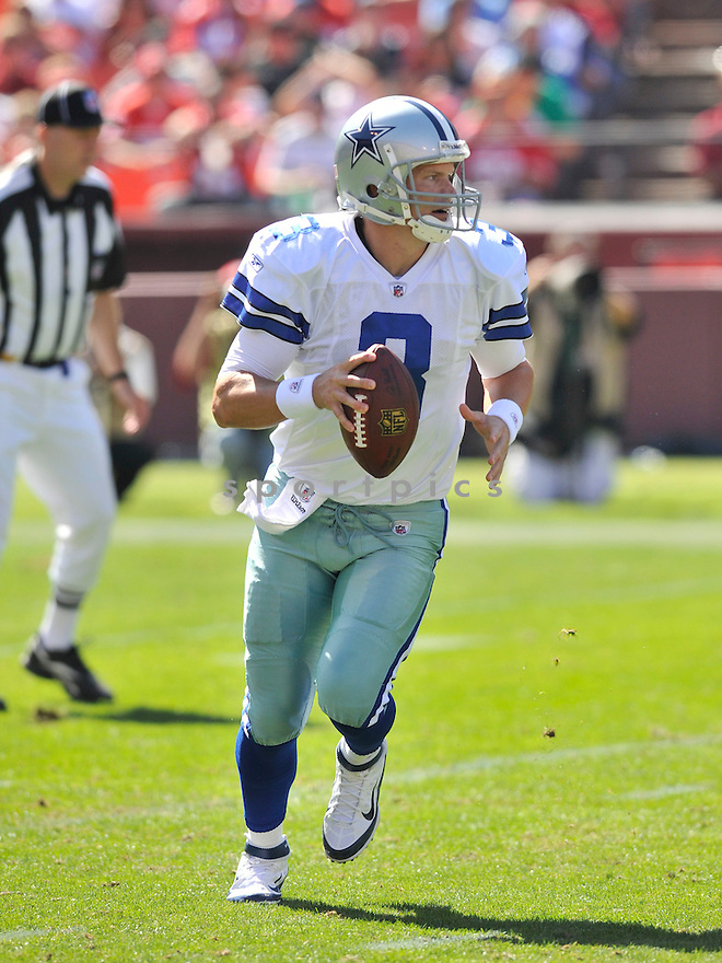 JON KITNA, of the Dallas Cowboys, in action during the Cowboy's game against the 49ers on September 18, 2011 at Candlestick Park in San Francisco, CA. The Cowboys beat the 49ers 27-24 in OT.