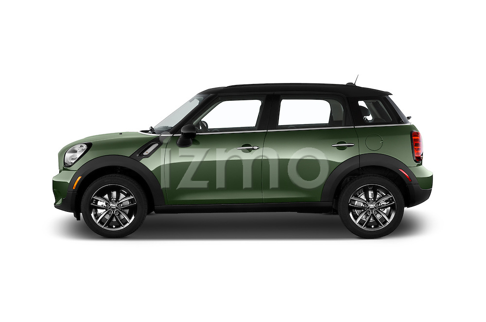 Car Driver side profile view of a 2015 MINI Countryman Base 4 Door Hatchback Side View