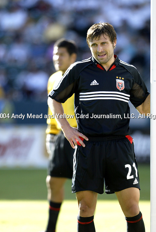 14 November 2004: Dema Kovalenko. DC United defeated the Kansas City Wizards 3-2 to win MLS Cup 2004, Major League Soccer's championship game at the Home Depot Center in Carson, CA..