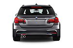 Straight rear view of 2017 BMW 3-Series 330i-Sports-Wagon 5 Door Wagon Rear View  stock images
