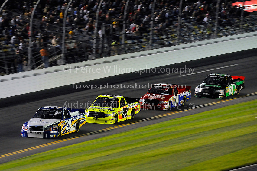 Parker Kligerman (#29), Matt Crafton (#88), Timothy Peters (#17) and David Starr (#81)