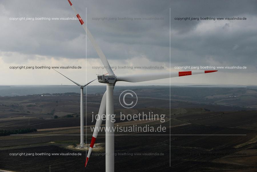 TURKEY Silivri, wind farm of Eksim Holding with 18 Nordex N100 2.5 MW wind turbines  / TUERKEI Silivri, Windpark der Eksim Holding mit 18 Nordex N100 2.5 MW Windkraftanlagen
