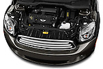 High angle engine detail of a 2011 - 2014 Mini Cooper Countryman SUV.