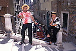 Gondoliers Waiting for Passengers, Venice, Italy