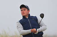 Charlie Denvir (Elm Park) on the 1st tee during Round 1 - Matchplay of the North of Ireland Championship at Royal Portrush Golf Club, Portrush, Co. Antrim on Wednesday 11th July 2018.<br /> Picture:  Thos Caffrey / Golffile