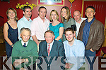 Young at Heart - Denis Healy from Ardfert seated centre having a wonderful time with friends and family at his 70th birthday party held in McElligot's Bar, Ardfert on Saturday night. Seated l/r Sonny Carmody, Denis Healy and John Healy, standing l/r Kay Healy, Ger C Honohan, Denis Healy, Lisa Healy-Honohon, Helen Healy, Denis Sheehan and Aidan Murphy.......................................................................................................................................................................... ............