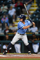 Charlotte Stone Crabs outfielder Braxton Lee (30) at bat during a game against the Bradenton Marauders on April 20, 2015 at McKechnie Field in Bradenton, Florida.  Charlotte defeated Bradenton 6-2.  (Mike Janes/Four Seam Images)