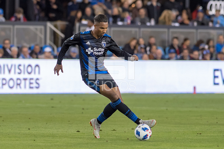 San Jose, CA - Thursday January 21, 2016: Danny Hoesen during a Major League Soccer (MLS) match between the San Jose Earthquakes and the New York Red Bulls at Avaya Stadium.
