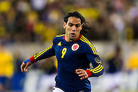 Falcao Garcia (9) of Colombia. Brazil (BRA) and Colombia (COL) played to a 1-1 tie during international friendly at MetLife Stadium in East Rutherford, NJ, on November 14, 2012.