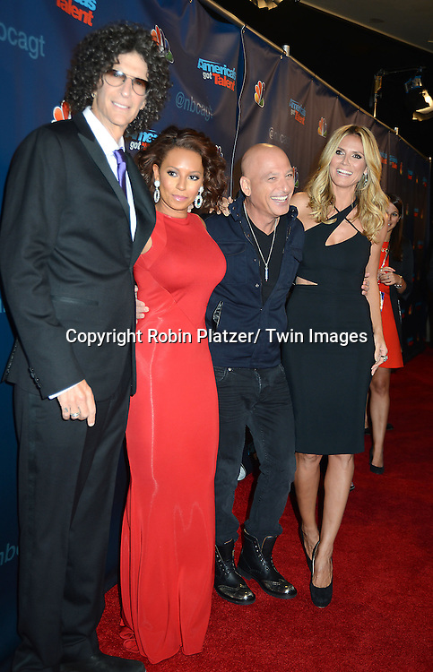 "Howard Stern, Mel B, Howie Mandel and Heidi Klum attend the ""America's Got Talent"" pre show red carpet on September 17, 2013 at Radio City Music Hall in New York City."