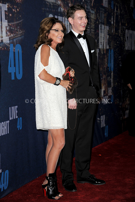 WWW.ACEPIXS.COM<br /> February 15, 2015 New York City<br /> <br /> Sarah Palin walks the red carpet at the SNL 40th Anniversary Special at 30 Rockefeller Plaza on February 15, 2015 in New York City.<br /> <br /> Please byline: Kristin Callahan/AcePictures<br /> <br /> ACEPIXS.COM<br /> <br /> Tel: (646) 769 0430<br /> e-mail: info@acepixs.com<br /> web: http://www.acepixs.com