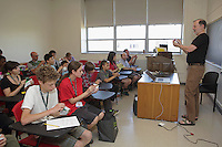 OrigamiUSA 2016 Convention at St. John's University, Queens, New York, USA. Creasers in Robert Lang's class on his design Classical Cicada.
