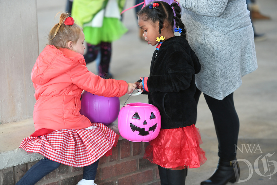 NWA Democrat-Gazette/J.T. WAMPLER Several hundred people attended a free Halloween celebration in downtown Springdale Saturday Oct, 28, 2017 hosted by Springdale Parks and Recreation and the Springdale Police Department.