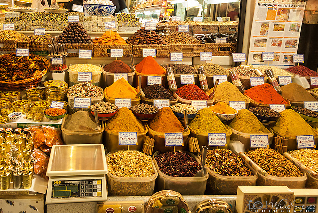 Spices on display at the Grand Bazaar in IstanbulIstanbul, Turkey