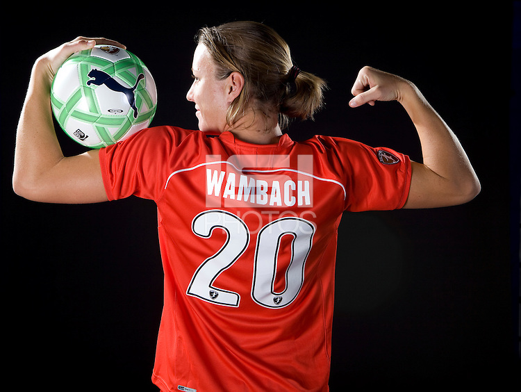 Abby Wambach, WPS promotional photo shoot, 2009.