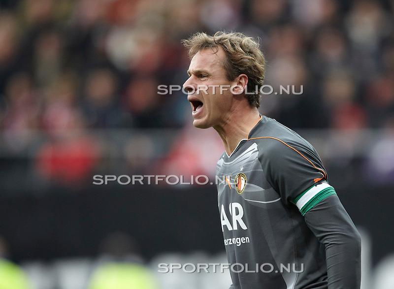 Nederland, Alkmaar, 31 oktober 2010 .Eredivisie .Seizoen 2010-2011 .AZ-Feyenoord (2-1) .Rob van Dijk, keeper (doelman) van Feyenoord