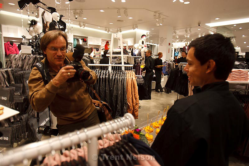 Trent Nelson  |  The Salt Lake Tribune.H&M opened their store at the Fashion Place Mall in Sandy, Utah, Thursday, November 10, 2011. george frey