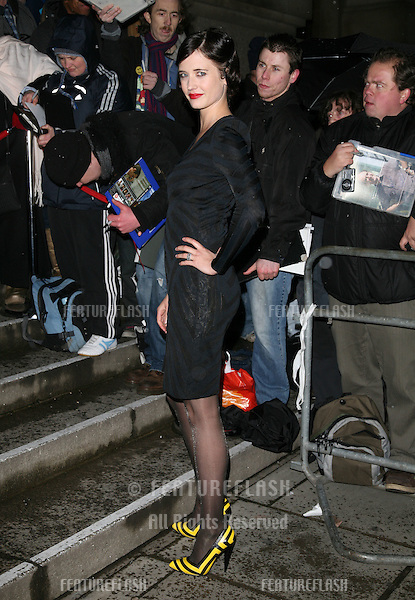 Eva Green arriving for the Evening Standard Film Awards, at County Hall, London.  08/02/2010  Picture by: Alexandra Glen / Featureflash