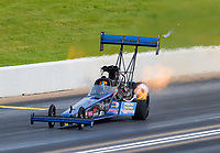 Jun 9, 2019; Topeka, KS, USA; NHRA top fuel driver Cameron Ferre during the Heartland Nationals at Heartland Motorsports Park. Mandatory Credit: Mark J. Rebilas-USA TODAY Sports