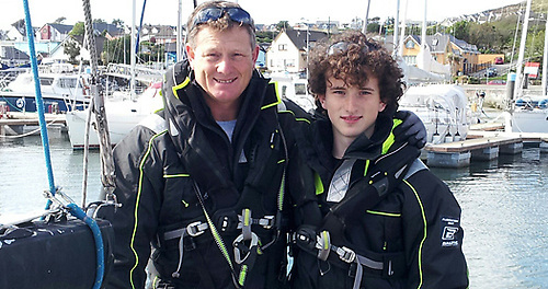 Derek & Conor Dillon of Foynes in 2014, when they won the Two-Handed Division in the Round Ireland race