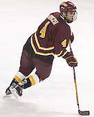 Alex Spezia - The Boston College Eagles and Ferris State Bulldogs tied at 3 in the opening game of the Denver Cup on Friday, December 30, 2005, at Magness Arena in Denver, Colorado.  Boston College won the shootout to determine which team would advance to the Final.