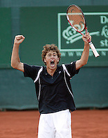 13-7-06,Scheveningen, Siemens Open, third round match, Robin Haase gaat uit zijn dak als hij zich plaatst voor de kwartfinale