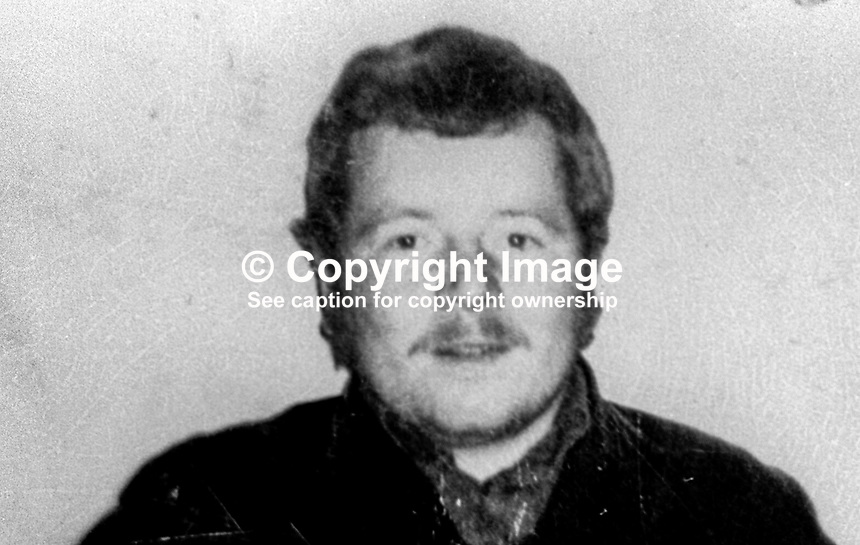 Freddie Weatherall, 22 years, from Belfast, N Ireland, banned from entry to Britain because of alleged links to the para-military UDA, Ulster Defence Association. He was detained on his arrival in Liverpool with his fiancee, Ruby Mercer. 9th July 1975. 197507090539FW<br />