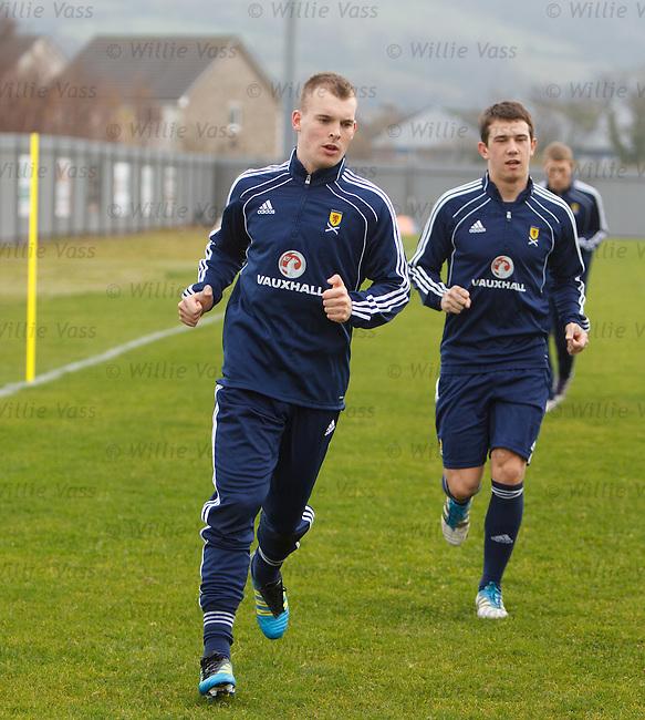 Gregg Wylde at Scotland u21 training