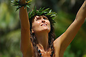 Hula dancer on the island of Kauai, Hawaii.  Shot on location for Idanha Films.