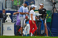 Nelly Korda (USA) chats on the first tee before round 4 of the KPMG Women's PGA Championship, Hazeltine National, Chaska, Minnesota, USA. 6/23/2019.<br /> Picture: Golffile | Ken Murray<br /> <br /> <br /> All photo usage must carry mandatory copyright credit (© Golffile | Ken Murray)