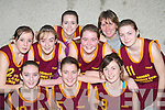 DAZZLED: The St Joseph's, Duagh team that dazzled the crowd at the St Mary's Annual Christmas Basketball blitz in St John's Hall, Castleisland on Saturday were front l-r: E?abhnait Scanlon, Rachel Collins and Lorraine Scanlon. Back l-r: Meghan Galvin, Sarah Sheehy, Aisling Cronin, Me?abh Roche, Ann Scanlon and Katie O'Sullivan.   Copyright Kerry's Eye 2008