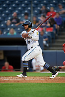 Akron RubberDucks Wilson Garcia (11) at bat during an Eastern League game against the Reading Fightin Phils on June 4, 2019 at Canal Park in Akron, Ohio.  Akron defeated Reading 8-5.  (Mike Janes/Four Seam Images)