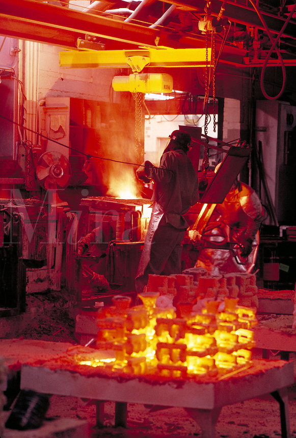 Worker at Foundry, fabrication, construction.